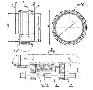 Сборочный чертеж компенсатор СК 2109-92